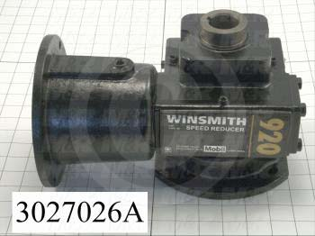 "Reducers, Angle Type, Worm Type of Gears, 5:1 Ratio, Hollow Bore & Flange RH, 1.25"" Output Diameter, Input Shaft & Flange, Shaft mounted"