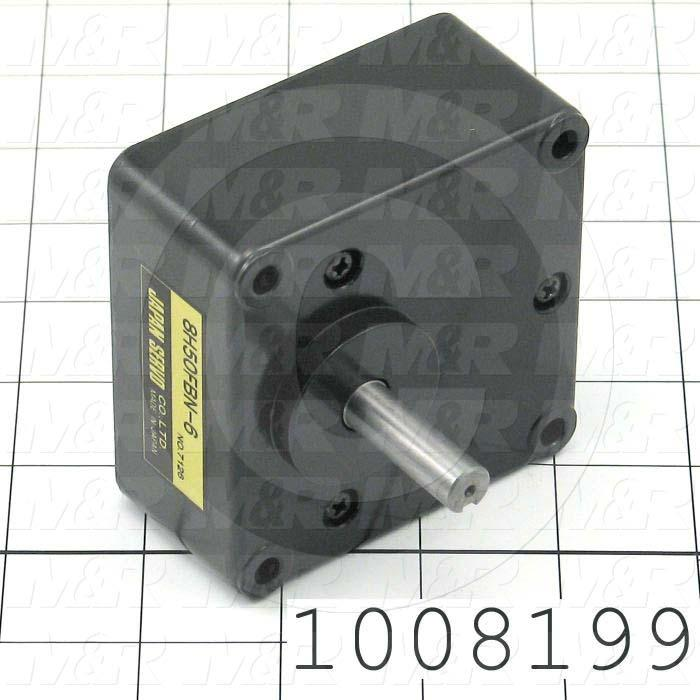 """Reducers, Offset In-Line Type, 50:1 Ratio, Output Shaft (Single), 0.375"""" Output Diameter, Face mounted"""