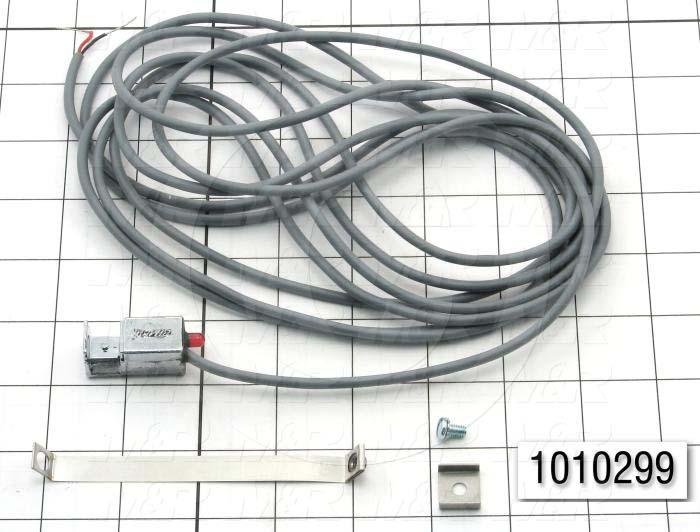 "Reed Switch, 2 Wire, 144"" Pigtail Leads, 120V, 20mA, with Indicator Light, 1 - 1 1/16"" Band"