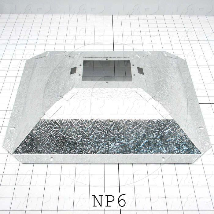 Reflectors, Concave Square, 15.50, 15.50, Aluminum, Leather Grain Pattern - Details