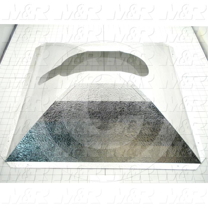 """Reflectors, Concave Square, 24.50"""", 24.50"""", Aluminum"""