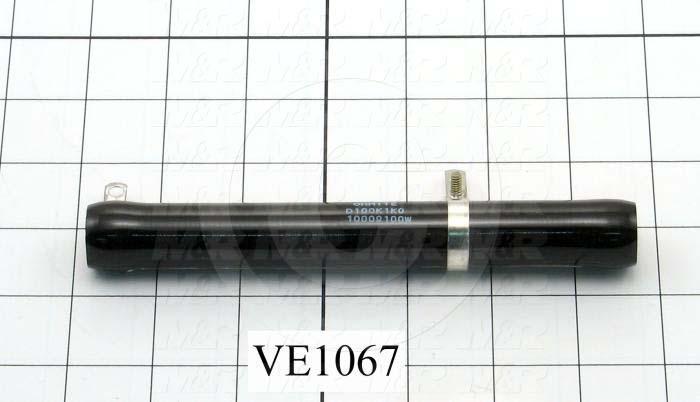 Resistor, WireWound, 1K Ohm, 100W, With Adjustable Lug