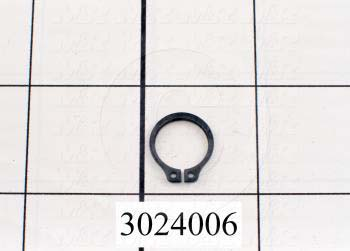"Retaining Ring, External, Style Basic Snap, Shaft Diameter 0.50 in., Thickness 0.042"", Material Steel"
