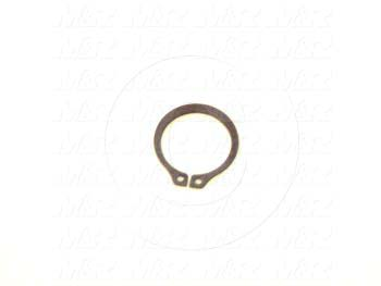 "Retaining Ring, External, Style Basic Snap, Shaft Diameter 0.625"", Thickness 0.035"", Material Steel"