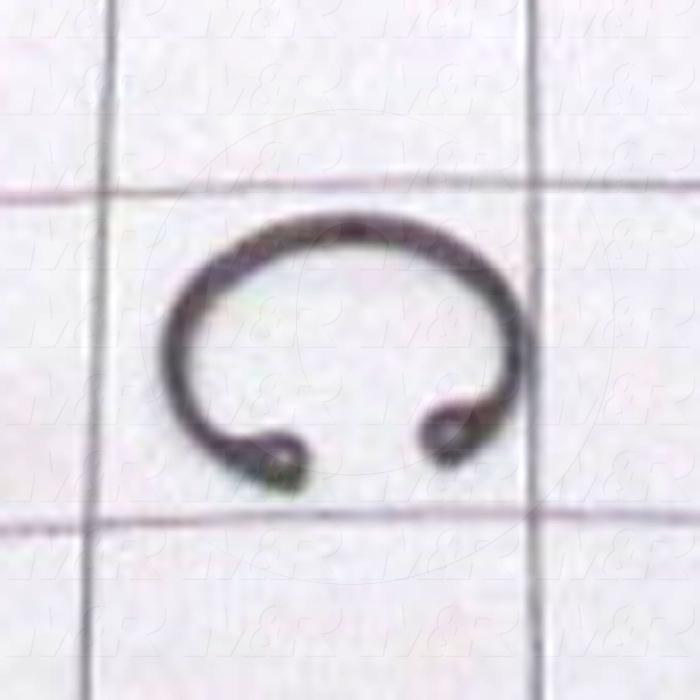 "Retaining Ring, External, Style Basic Snap, Shaft Diameter 0.75 in., Thickness 0.035"", Material Steel"