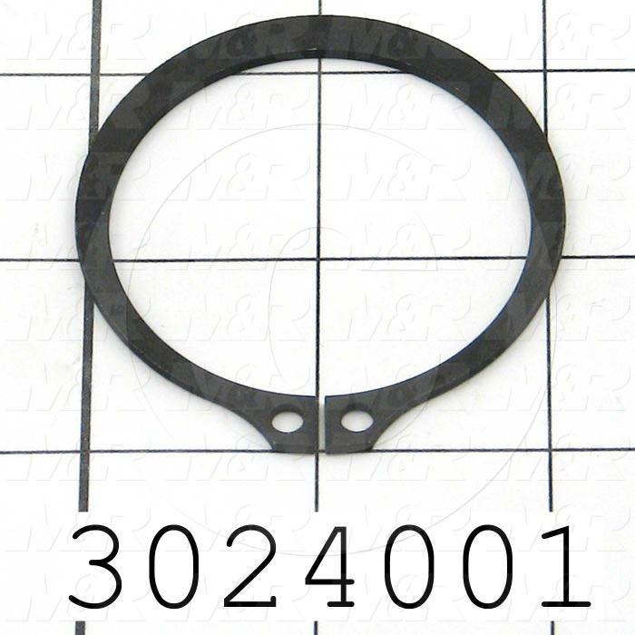 "Retaining Ring, External, Style Basic Snap, Shaft Diameter 2.00"", Thickness 0.062"", Material Steel"