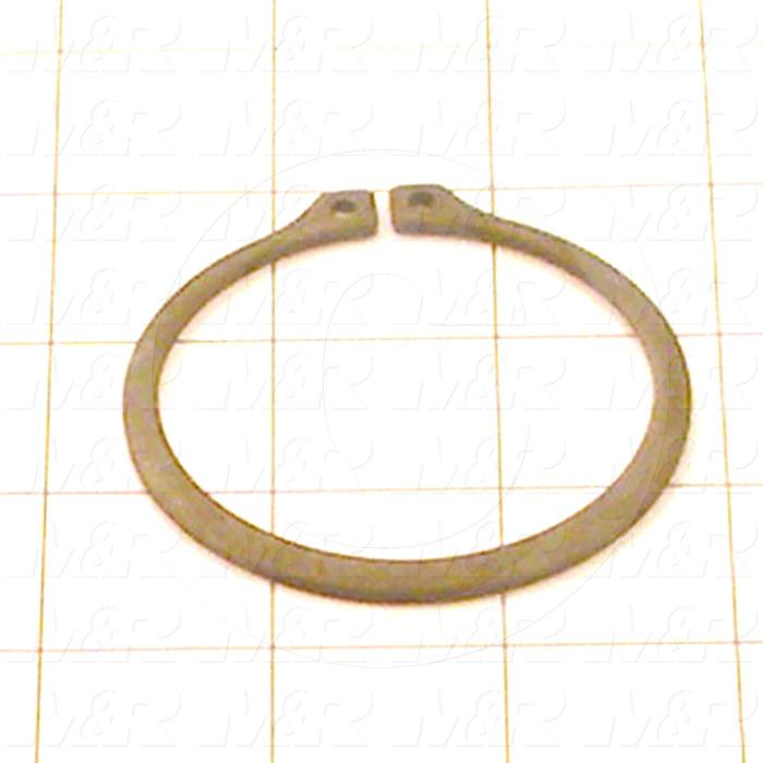 "Retaining Ring, External, Style Basic Snap, Shaft Diameter 2.375"", Thickness 0.72"", Material Steel"