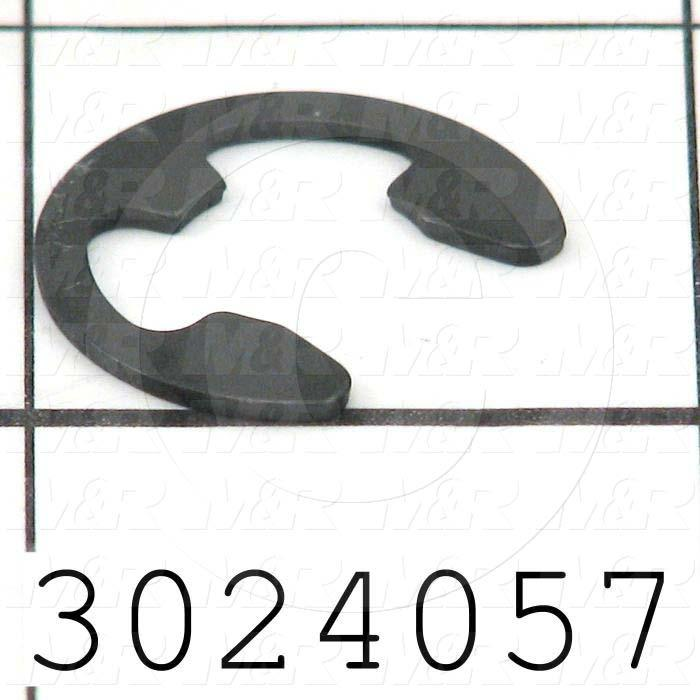 Retaining Ring, External, Style E-Ring, Shaft Diameter 0.50 in., Material Steel