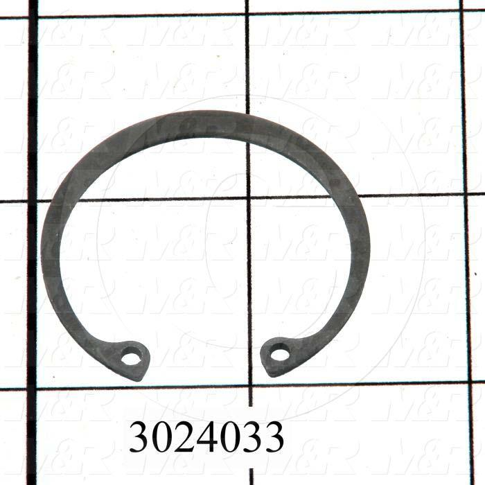 Retaining Ring, Internal, Style Basic Snap, Housing Diameter 1.375, Outside Diameter 1.526, Thickness 0.05 in., Material Steel - Details