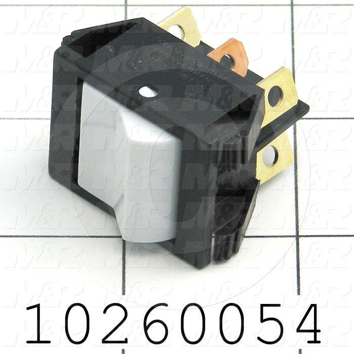 Rocker Switch, Maintained, DPDT, White - Details
