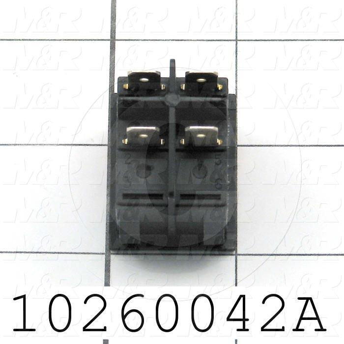 Rocker Switch, with Lamp, Contact Rating @ 125V 20A, Contact Rating @ 250V 15A