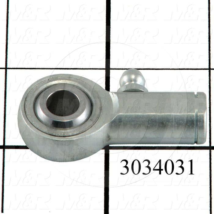 "Rod End and Spherical Bearing, Female, Left Hand, 5/16-24 Thread Size, 0.313"" Inside Diameter, 0.437"" Ball With, 1.375"" Base to Center, Steel Body, Steel Race, Steel Ball"