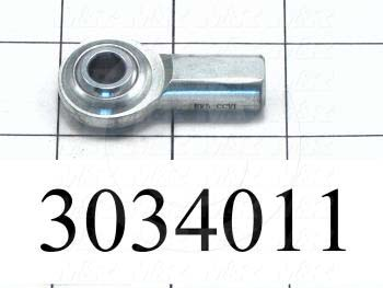 "Rod End and Spherical Bearing, Female, Right Hand, 5/16-24 Thread Size, 0.313"" Inside Diameter, 0.437"" Ball With, 1.375"" Base to Center, Steel Body, Steel Race, Steel Ball, High Strength"