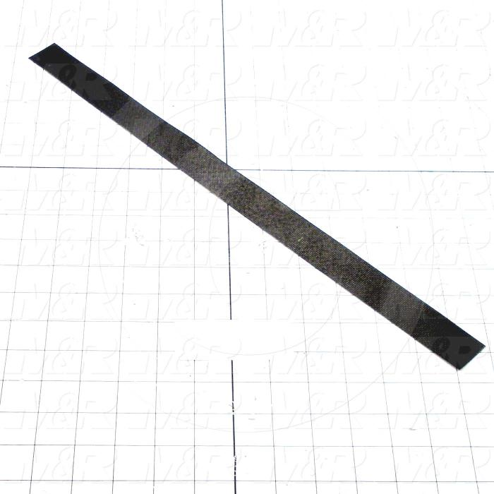 "Rubber, 18"" Width, 1/16"" Thickness, 32-25 Durometer Silicone Rubber Black"