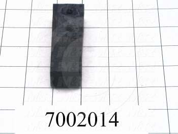 "Rubber, 3/4"" Width, 3.00 in. Length, 1.00"" Thickness, 70 Durometer"