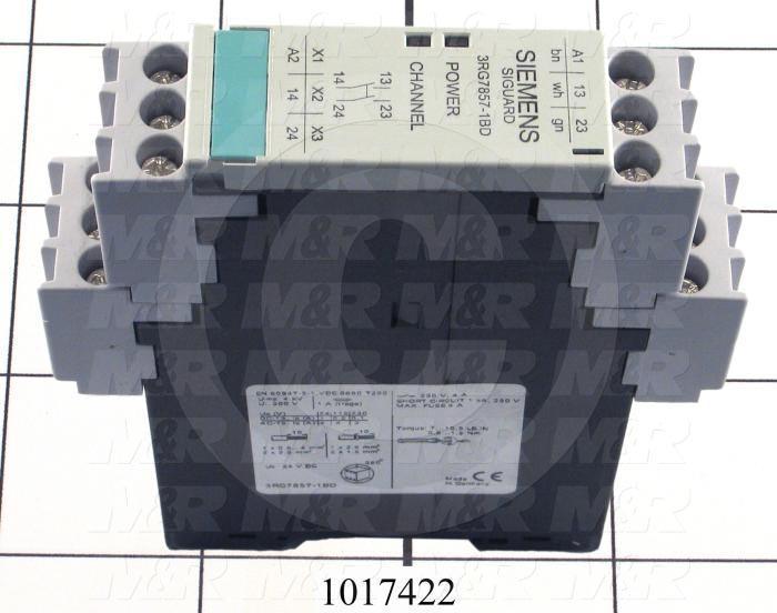 Safety Relay, 3NO + 1NC, 24V AC/DC, 5A