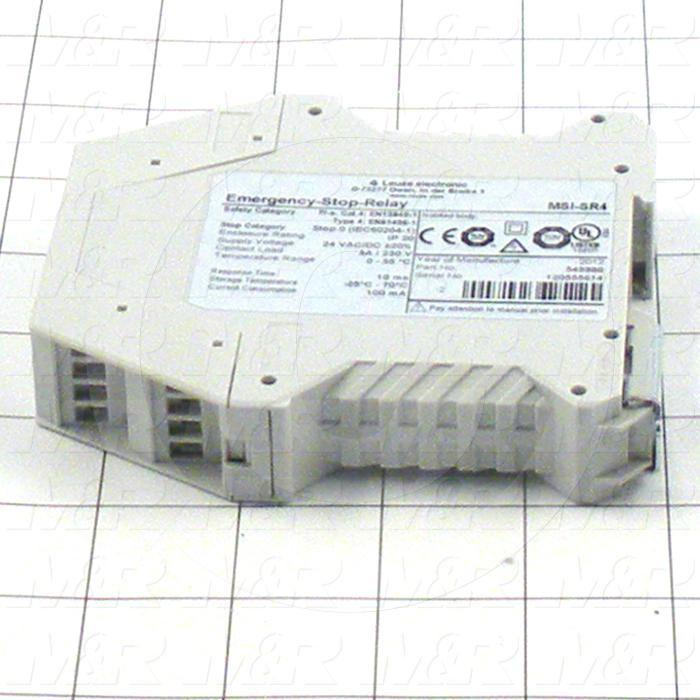 Safety Relay, Monitoring Relay, 24V AC/DC Coil Voltage, 3NO, With Indicator Light, 24VDC