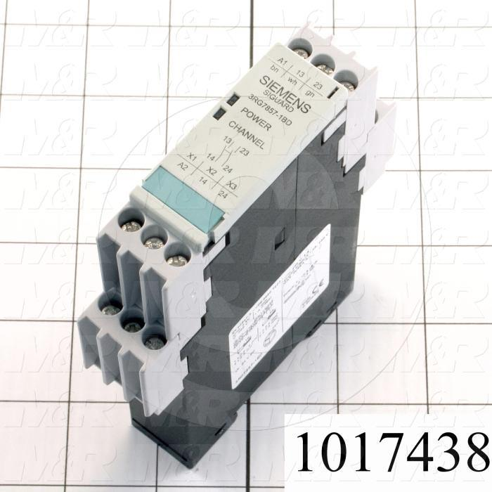 Safety Relay, Monitoring Relay, 2NO + 1NC, 24VDC, Safety Category 4