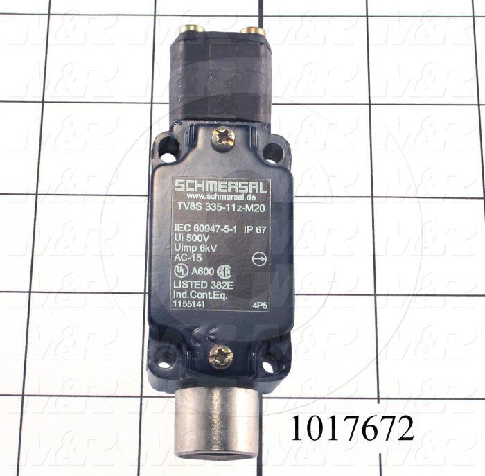 Safety Switch, Rotary Actuator 8mm Diameter Shaft, 3 Safety Contacts