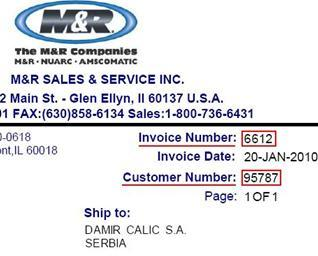 Sample invoice image