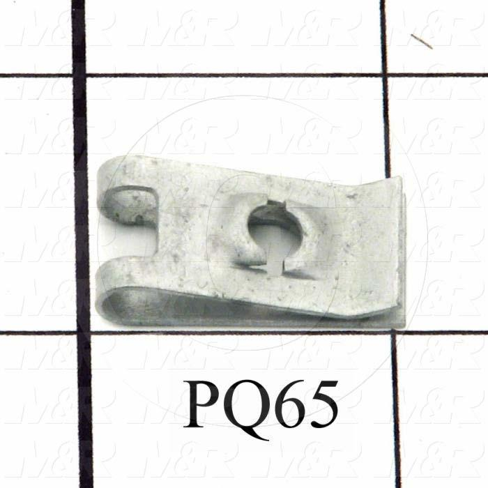 Screw Receptacle, U Type, Steel Material, Medium Size, Clip-on Style, Use With PQ64 Captive Screw Notes