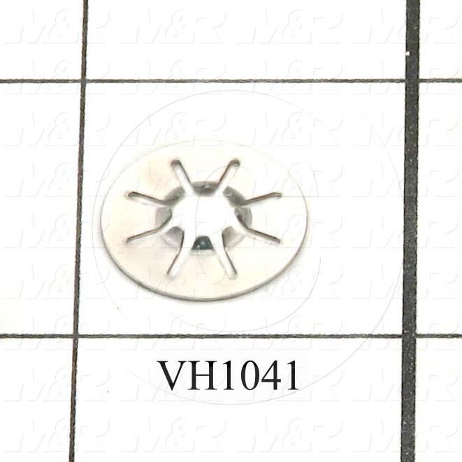 Screw Retainer, Round Type, Medium Size, Stainless Steel Material