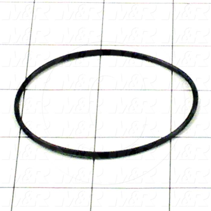 """Seals and O-Rings, Static, O-ring Round Cross Section, 2.38"""" Outside Diameter, 2.25"""" Inside Diameter, 0.07"""" Width, -40F/+250F Temperature Rating, Buna-N, Black"""