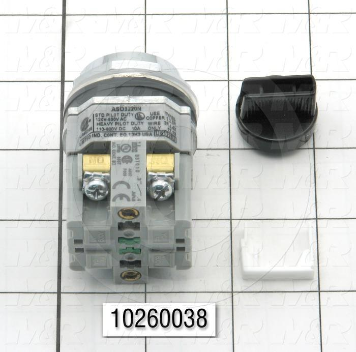 Selector Switch, 3 Positions, 1NO 1NC