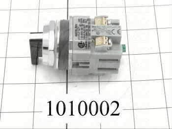 Selector Switch, 3 Positions, Maintained, 2NO
