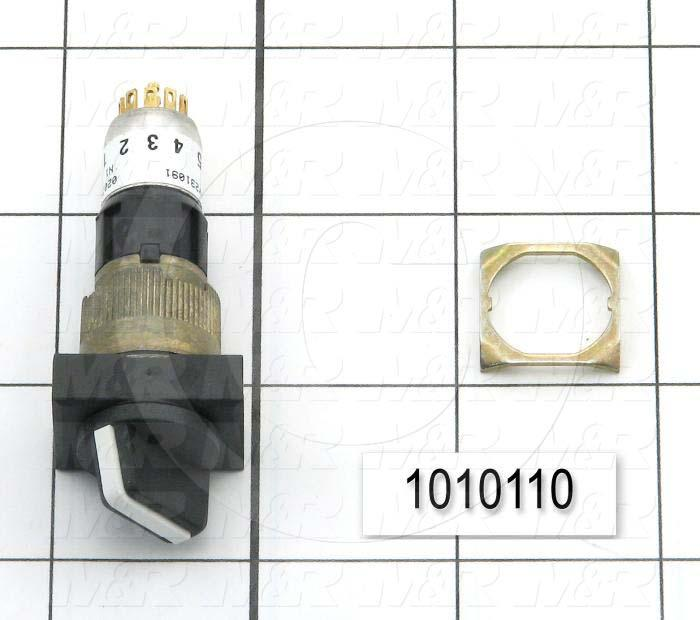 Selector Switch, 3 Positions, Maintained, Rectangular