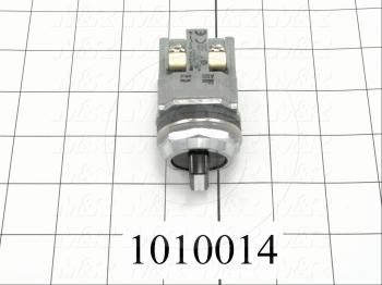 Selector Switch, Knob Operator, 3 Positions, Maintained, 2NO