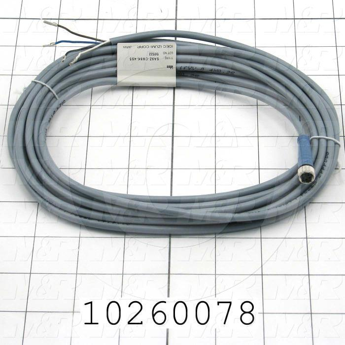 Sensor Cable, 4 Pin, Straight, 5m