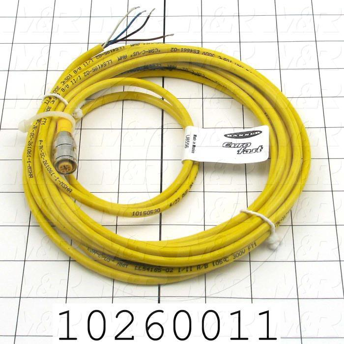 Sensor Cable, Female, 4 Pin, Quick Connect, 5m - Details