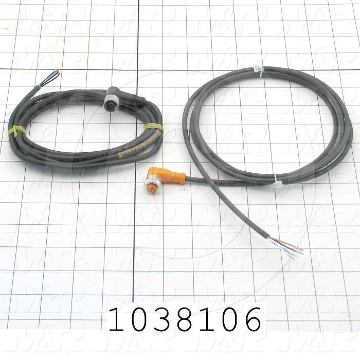 Sensor Cable, Plug, 4 Pin, Right Angle, 2m