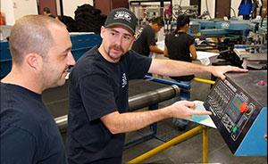 Service technician at work