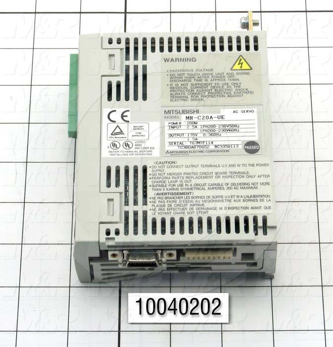 Servo Amplifier Drive, MR-C Series, 200W, 200VAC