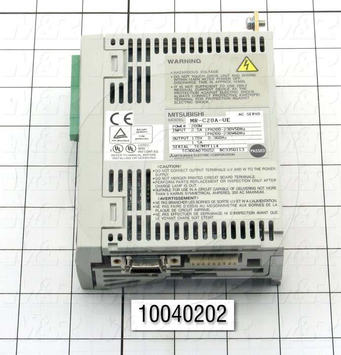 Servo Amplifier Drive, MR-C Series, 200W, 200VAC