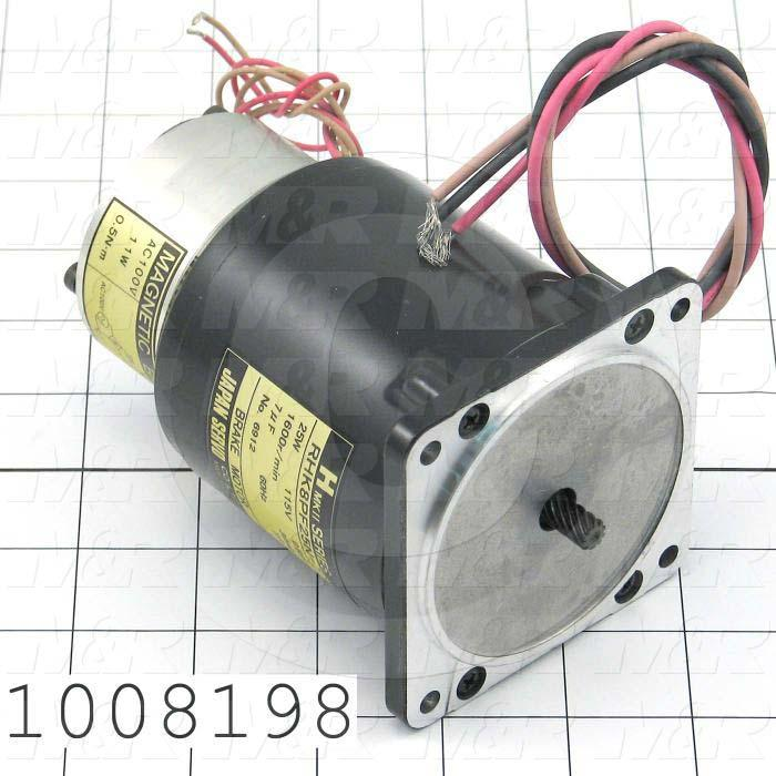 Servo Motor, 115VAC, with Brake
