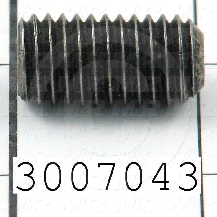 Set Screws, Socket, 1/2-13 Thread Size, 2.00 in. Length, Flat Point, Steel, Black