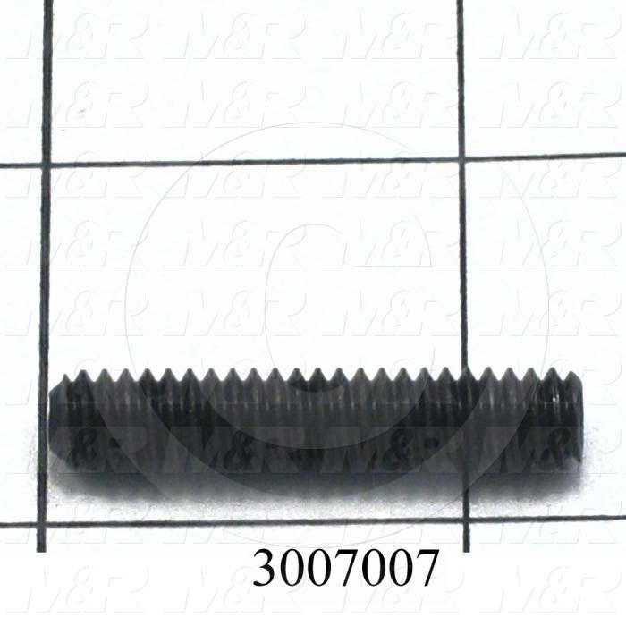 Set Screws, Socket, 1/4-20 Thread Size, 1 1/4 in. Length, Cup Point, Steel, Black