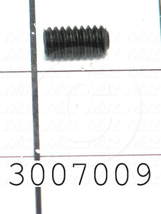 Set Screws, Socket, 1/4-20 Thread Size, 1/2 in. Length, Cup Point, Steel, Black