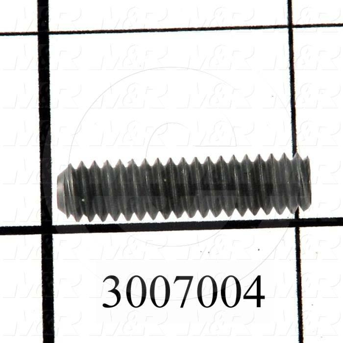 "Set Screws, Socket, 1/4-20 Thread Size, 1"" Length, Cup Point, Steel, Black"