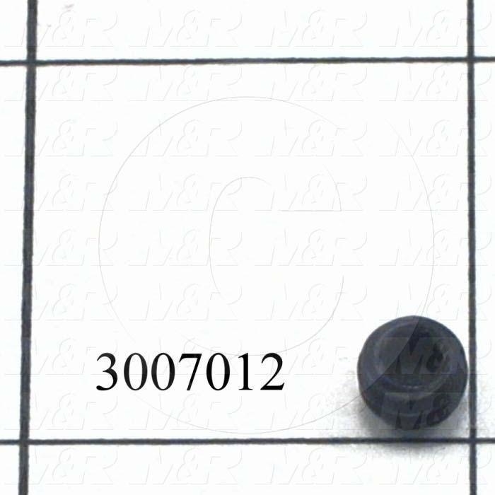 Set Screws, Socket, 1/4-20 Thread Size, 3/16 in. Length, Cup Point, Steel, Black