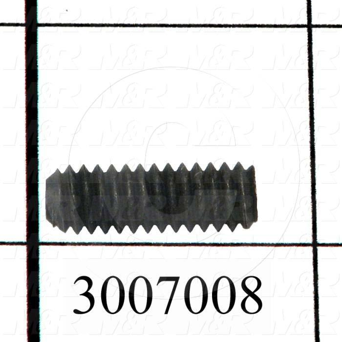 "Set Screws, Socket, 1/4-20 Thread Size, 3/4"" Length, Cup Point, Steel, Black"