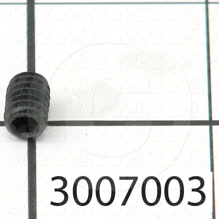 "Set Screws, Socket, 1/4-20 Thread Size, 3/8"" Length, Cup Point, Steel, Black"