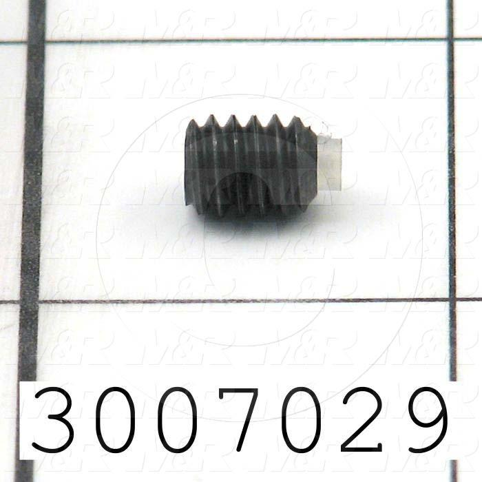 "Set Screws, Socket, 1/4-20 Thread Size, 5/16"" Length, Cup With Nylon Tip Point, Steel, Black"