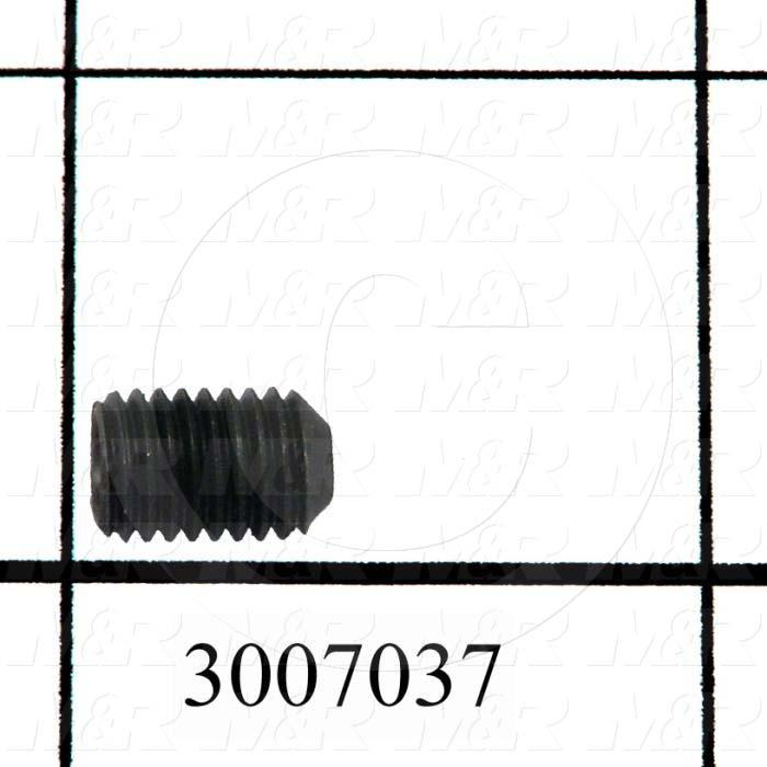 "Set Screws, Socket, 1/4-28 Thread Size, 3/8"" Length, Cup Point, Steel, Black"