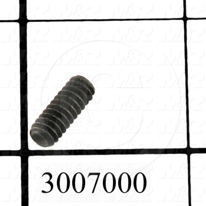 Set Screws, Socket, 10-24 Thread Size, 1/2 in. Length, Cup Point, Steel, Black