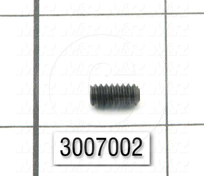 "Set Screws, Socket, 10-24 Thread Size, 3/8"" Length, Cup Point, Steel, Black"