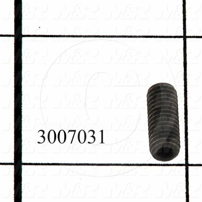Set Screws, Socket, 10-32 Thread Size, 1/2 in. Length, Cup Point, Steel, Black